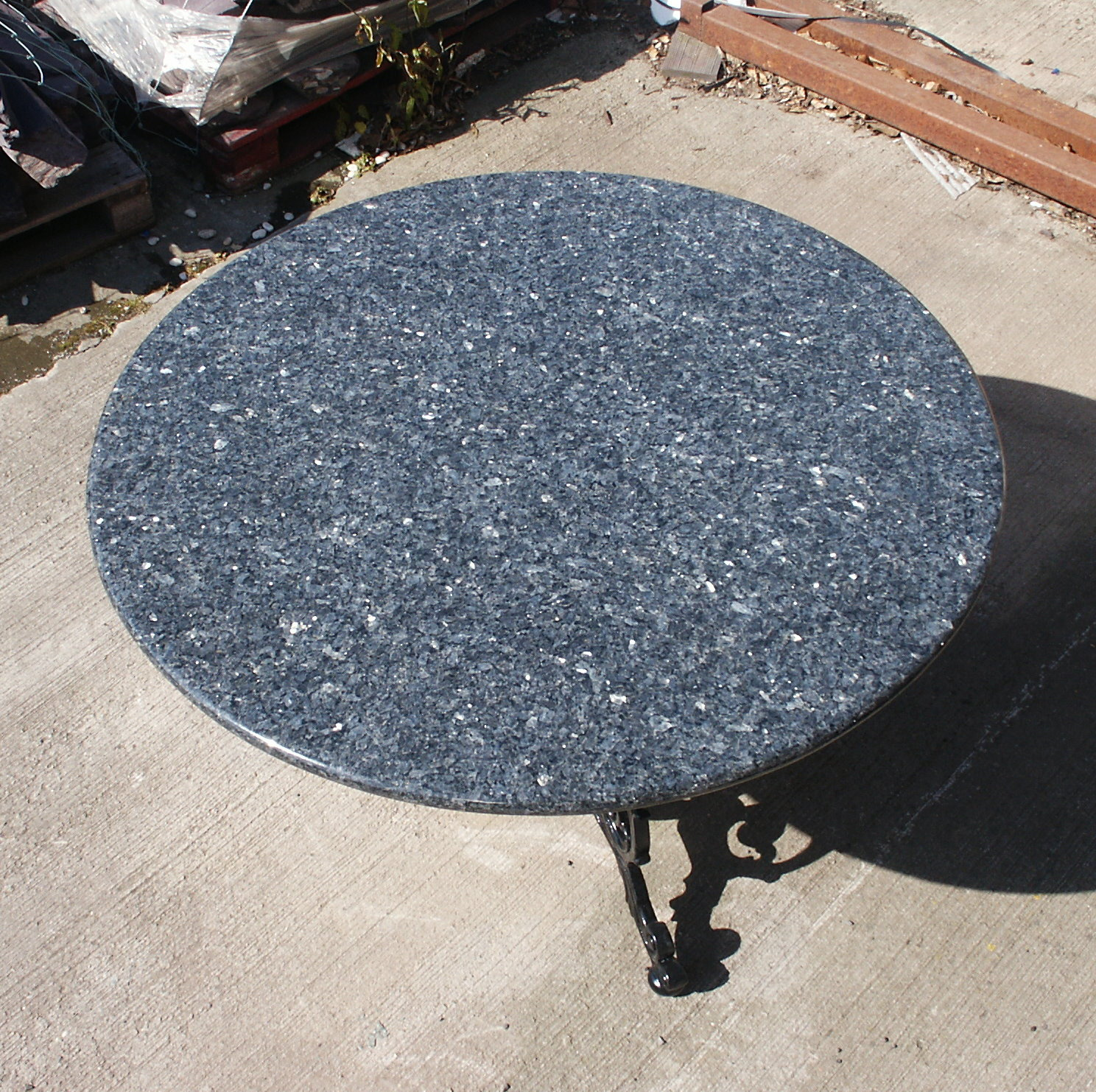 Granite top round kitchen table - Blue Pearl Table Top