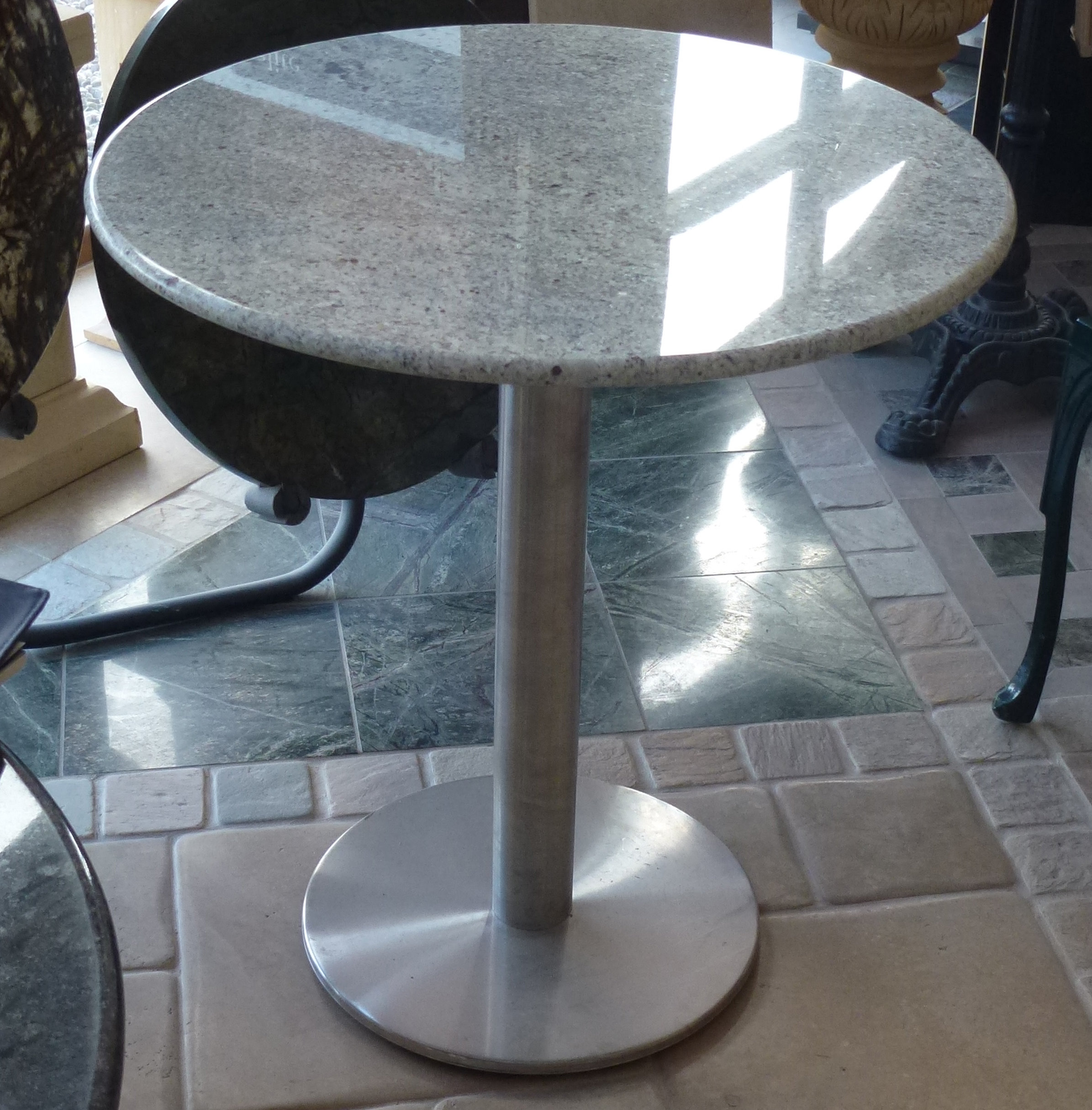 Stainless Steel Pedestal Table Base
